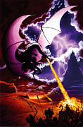 Fantasy Posters - Dragon Attack Poster by The Dragon Chronicles - Steve Re