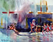 Mitzi Prints - Dragon Boat Race Print by Mitzi Lai