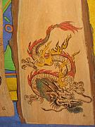 Fantasy Pyrography Originals - Dragon by Carlos Gayol