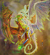 Oracle Paintings - Dragon Dancers by Steve Roberts