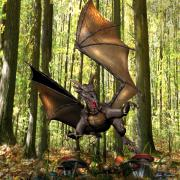 Wales Digital Art - Dragon Edwin - Dropping In for a Snack by John Quigley