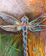 Fly Pastels Framed Prints - Dragon Fly 1 Framed Print by Jennifer Addington