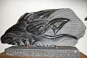 Fantasy Reliefs Originals - Dragon head by Paul Holbrecht
