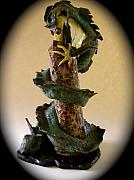 Dragon Ceramics - Dragon Hunting by Viva Jones