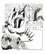Dragon Print by Lynnda Rakos