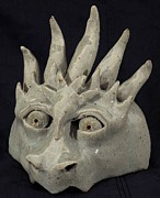 Dragon Ceramics - Dragon Mask by Angela Conley