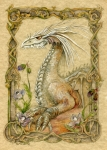 Fantasy Mixed Media Metal Prints - Dragon Metal Print by Morgan Fitzsimons