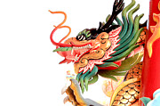 Chinese Tapestries - Textiles Prints - Dragon Print by Panyanon Hankhampa