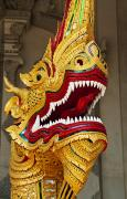 Sculpture Animal Posters - Dragon Sculpture - Thailand Poster by Greg Vaughn - Printscapes