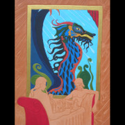 Chess Mixed Media Posters - Dragon Sicilian Poster by Ron Moses