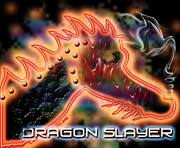 Bravery Digital Art Posters - Dragon Slayer Poster by Cheri Doyle