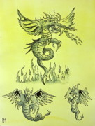 Fantasy Drawings Originals - Dragon Tales by Pete Maier