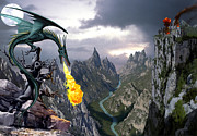Fantasy Photo Prints - Dragon Valley Print by The Dragon Chronicles - Garry Wa