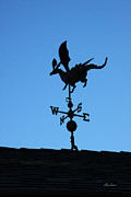 Weathervane Prints - Dragon Weathervane Print by Diana Haronis
