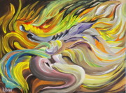 Intensity Painting Prints - Dragoness Print by Rodrick Strelau
