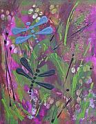 Catherine Jeltes Originals - Dragonflies by Catherine Jeltes