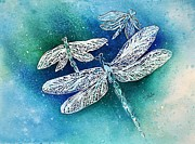 Dragonfly Paintings - Dragonflies by Donna Martin