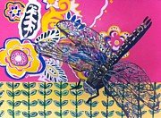 Egg Tempera Prints - Dragonfly Print by Amy Reisland-Speer