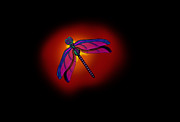 Dragon Fly Posters - DragonFly Aura Poster by Jonny Johnson