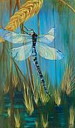 Dragonfly Framed Prints - Dragonfly Fantasy Framed Print by Karen Dukes