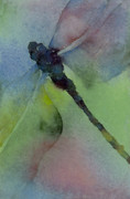 Bugs Paintings - Dragonfly in Flight by Gladys Folkers