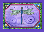 Corwin Paintings - Dragonfly One by Pamela  Corwin