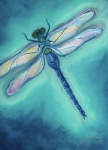 Bright Colors Art - Dragonfly by Sabina Espinet