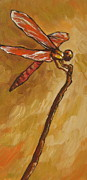 Dragonfly Painting Originals - Dragonfly by Sandy Tracey