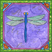 Corwin Paintings - Dragonfly Two by Pamela  Corwin