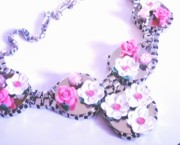 Hot Jewelry - Dragonflys Flowers by Maria Tripician
