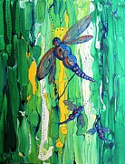 Dragon Fly Posters - Dragons dance Poster by Pat Purdy