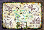 Dragon Posters - Dragons of the World Poster by The Dragon Chronicles - Garry Wa