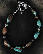 Buffalo Jewelry - Dragonscale Turquoise Bracelet by White Buffalo