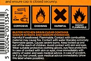 Caustic Prints - Drain Cleaner Hazard Warning Notices Print by Martyn F. Chillmaid