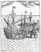 1579 Framed Prints - Drake: Golden Hind, 1579 Framed Print by Granger