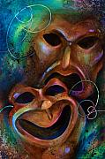 Theatre Painting Originals - Drama by Michael Lang