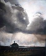 Landmark Pastels Prints - Drama Over Leuty Print by Sharon Wright