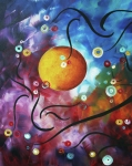 Abstract Landscape Paintings - Drama Unleashed 3 by Megan Duncanson