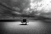 Dramatic Beach Print by Marc Huebner