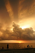 Sea Watch Prints - Dramatic Caribbean Sunset Print by Matt Tilghman