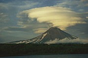 Volcanoes And Volcanic Action Acrylic Prints - Dramatic Clouds Over Kamchatkas Acrylic Print by Klaus Nigge