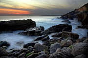 Heavenly Sunrise Posters - Dramatic Coastline Poster by Carlos Caetano