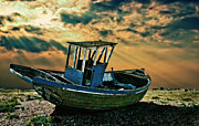Wooden Boat Framed Prints - Dramatic Dungeness Framed Print by Meirion Matthias