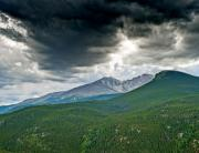 Rocky Mountain National Park Prints - Dramatic Skies in Rocky Mountain National Park Colorado Print by Brendan Reals