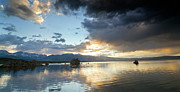 Pretty Clouds Prints - Dramatic Sky at Mono Lake - California Print by Brendan Reals