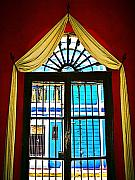 Drapery Photo Prints - Draped Window by Darian Day Print by Olden Mexico