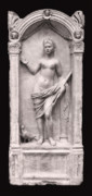 Ancient Sculpture Photos - DRAPED YOUNG WOMAN with PIGEON - ROMAN SCULPTURE by Daniel Hagerman