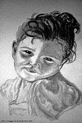Kids Drawings - Drawing of a Little Girl by Lisa Stanley