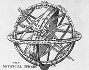 Armillary Framed Prints - Drawing Of An Armillary Sphere Framed Print by Middle Temple Library