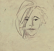 Faces Drawings - Drawing of Sizzy by Ethel Vrana